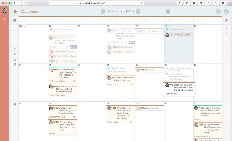 CoSchedule Review: Our Favorite Blog Editorial Calendar