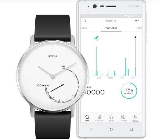 Nokia Joins Smart Health Trend, Rolls Out 'Steel' Tracking Watch