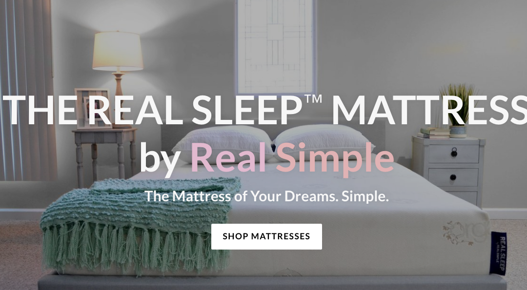 'Real Simple Launches' 'Real Sleep' Line of Memory Foam Mattresses