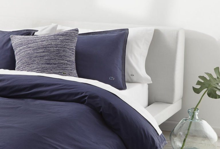 Lacoste Releases Bedding Line Inspired By Its Polo Shirts